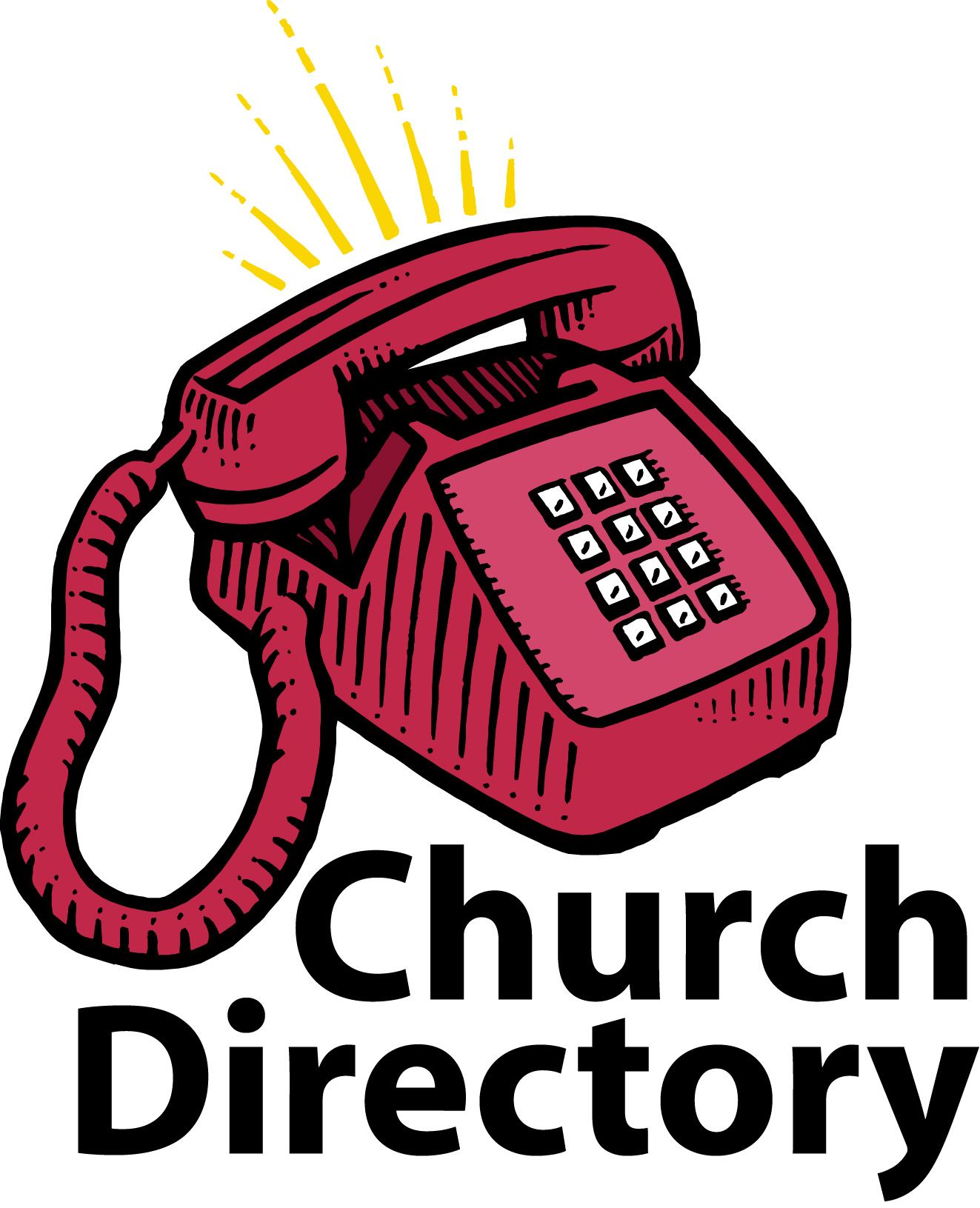 Telephone clipart church directory. Family
