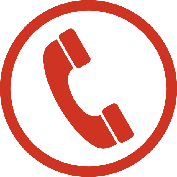 Telephone clipart red telephone. Monochrome phone icon clip