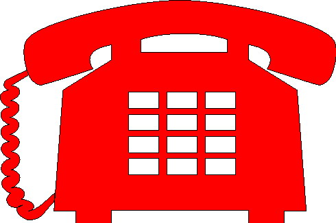Telephone clipart red telephone.