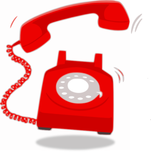 Telephone clipart red telephone. Ringing clip art at