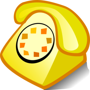 Telephone clipart yellow telephone. Clip art at clker