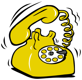 Telephone clipart yellow telephone. Ringing phone available formats