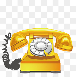 Telephone clipart yellow telephone. Phone png images vectors