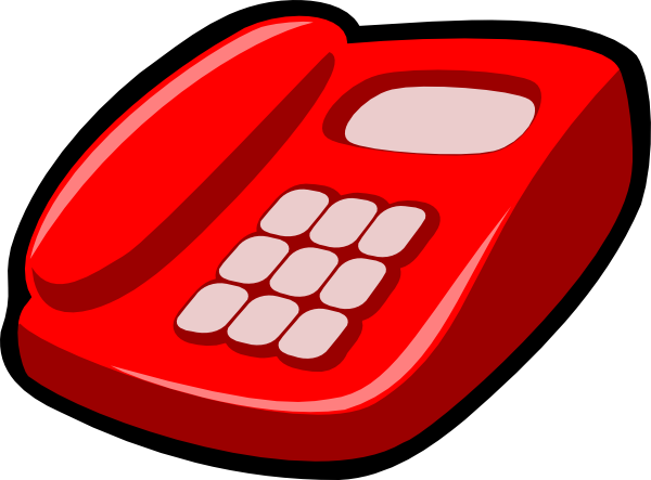 Telephone clipart. Modern red
