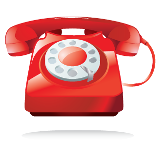 Telephone transparent red. Download free png image