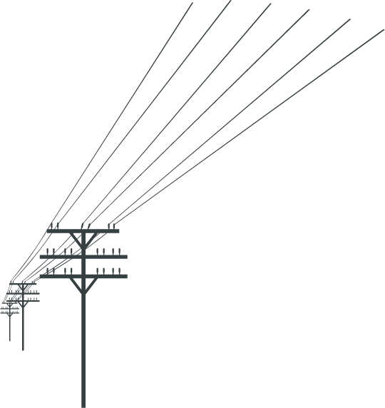Vector power electric line. Business telephone systems by