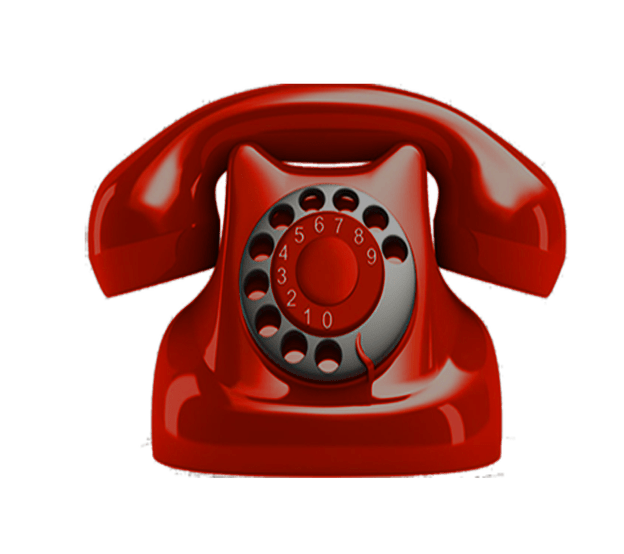 Telephone transparent red. No background image