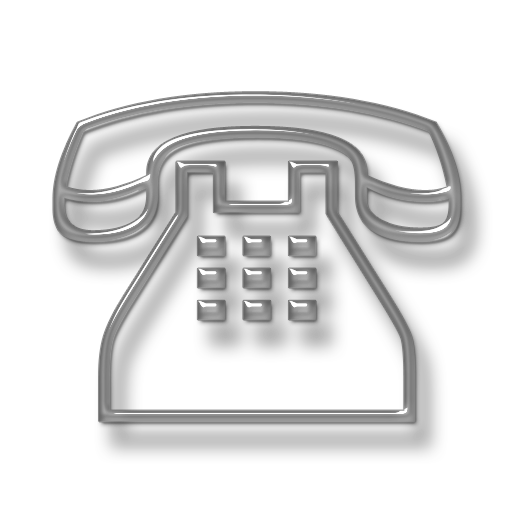 Telephone transparent business. D glass icon