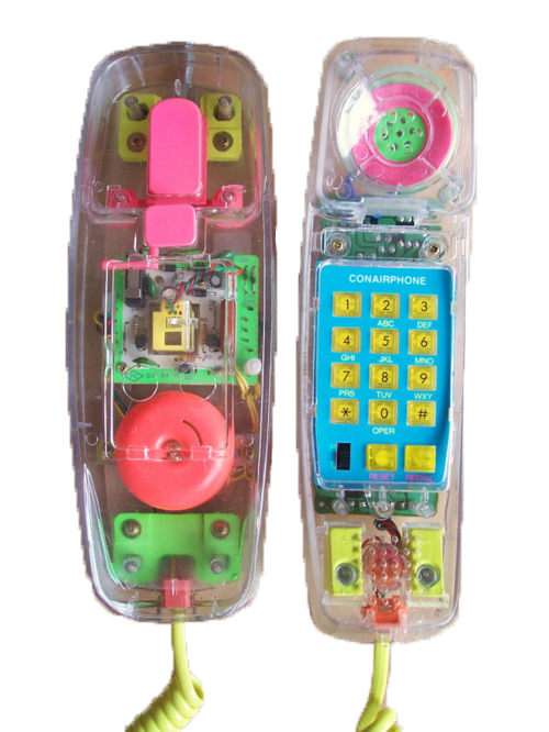Telephone transparent conairphone. Mine phone clear png