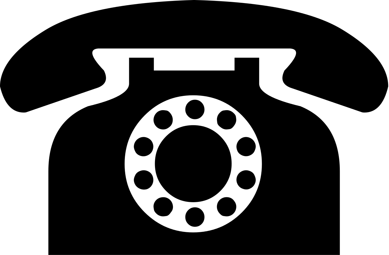 Telephone transparent file. Black icon from dejavu