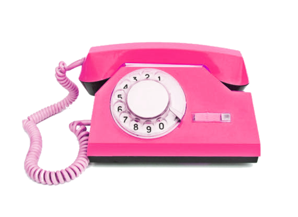 Telephone transparent pink. Edited by c freedom