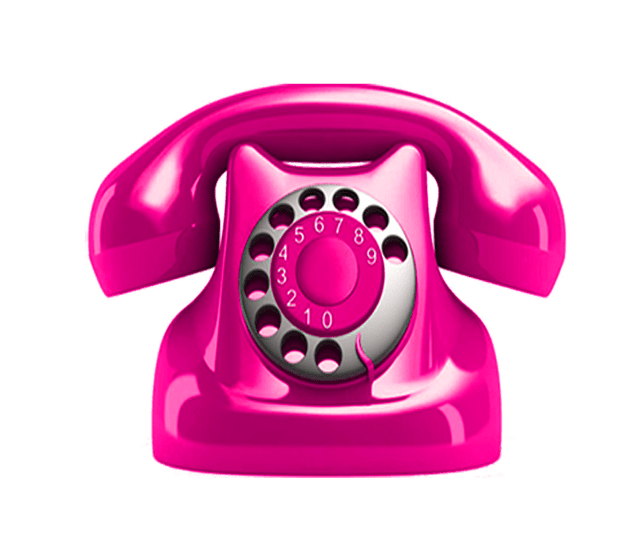 Telephone transparent pink. Background graphic