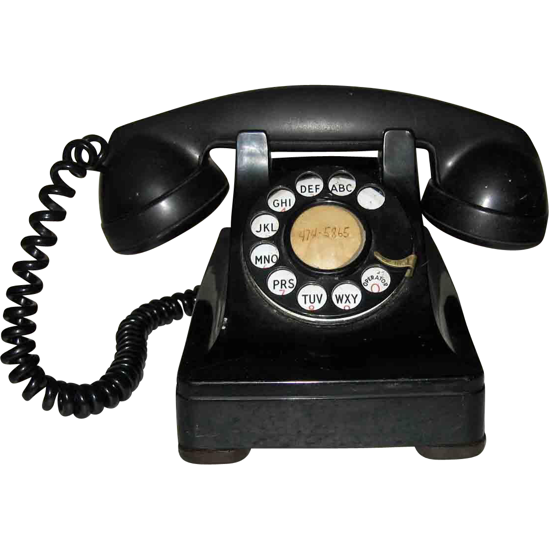Telephone transparent retro. Bell system western electric