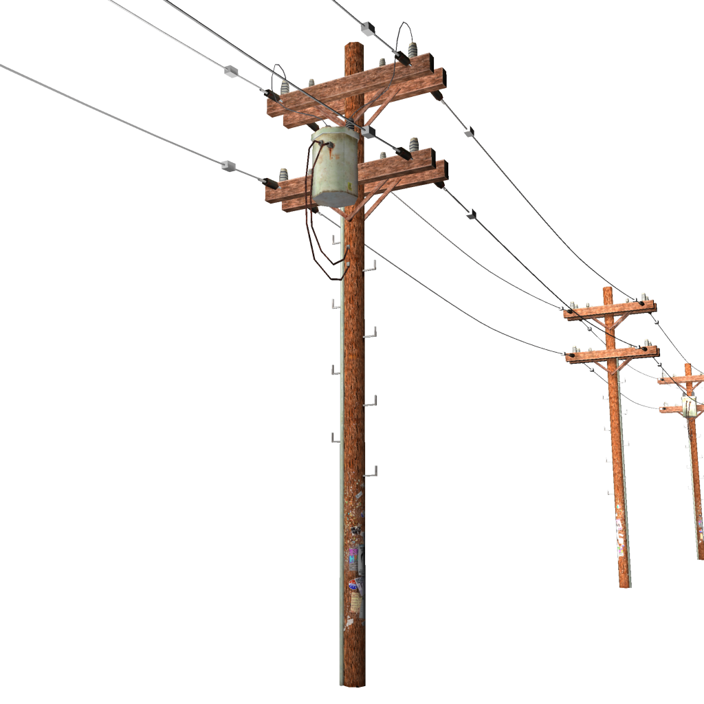 Pole vector electric. Power lines clipart clip
