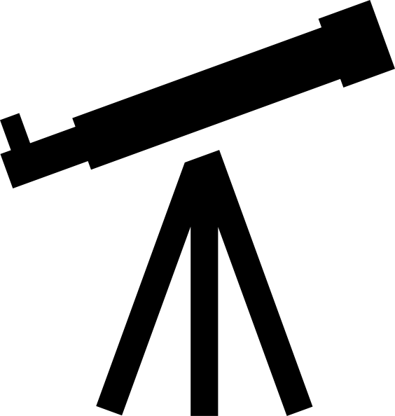 telescope clipart white boy