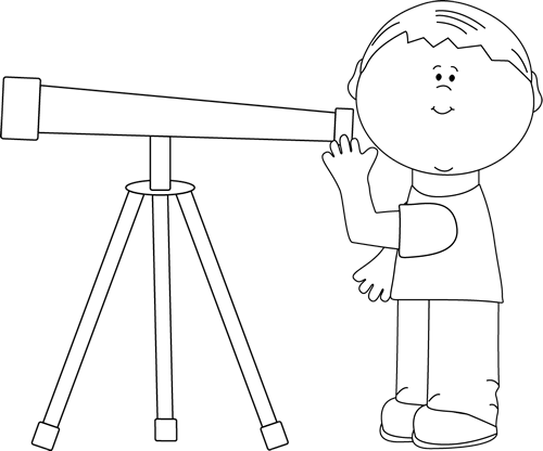telescope clipart outline