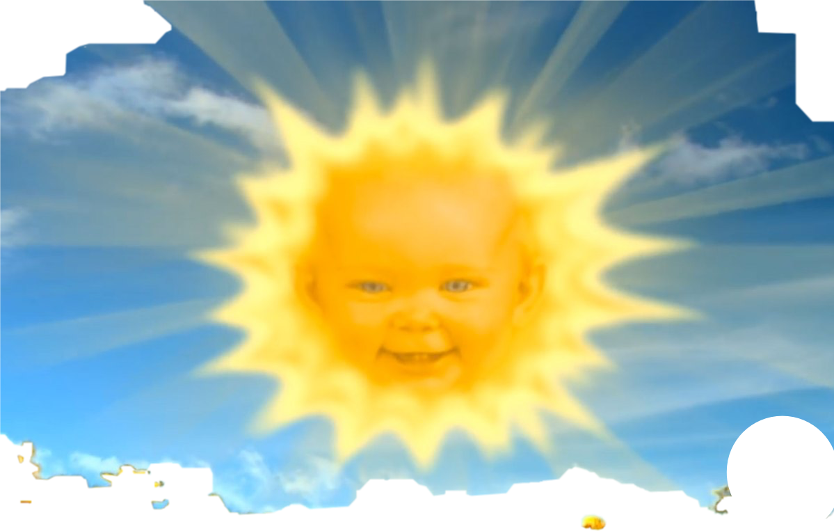 Teletubbies sun png. Cbeebies freetoedit report abuse