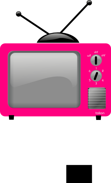 pink tv png