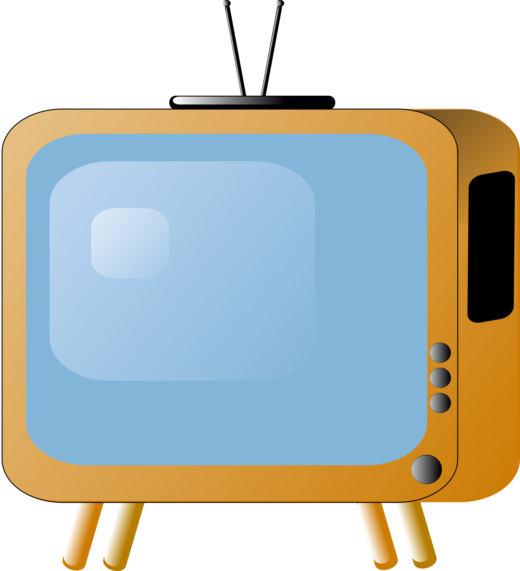 Television clipart animated. Old styled tv set