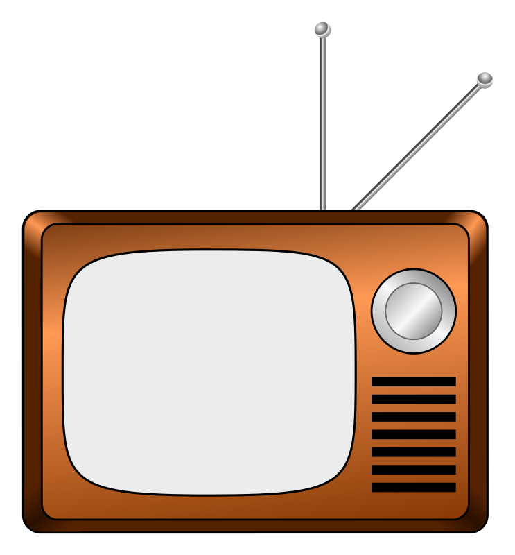 Drawing tv outline. Free cartoon cliparts download