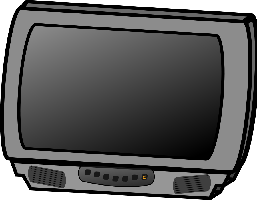 Vector television black and white. Free pictures download clip