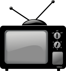 Television clipart old technology. Clip art vector online