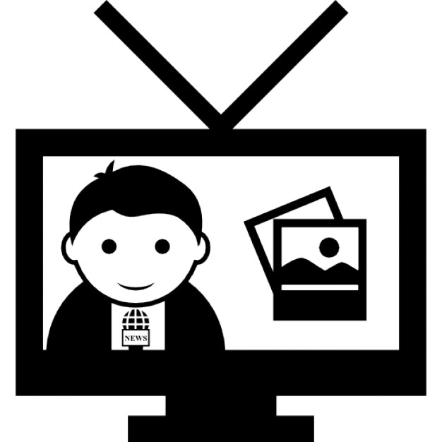 Television clipart tv program. Icons free download icon