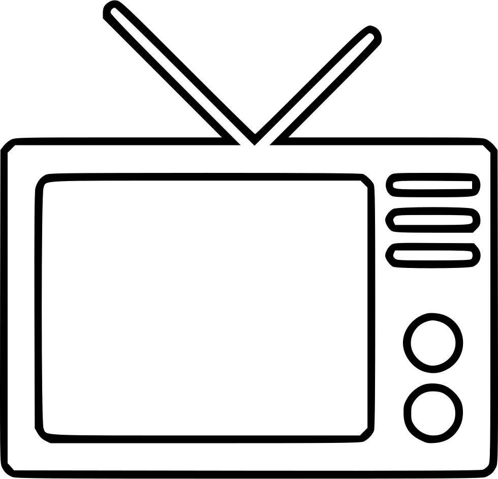 Drawing tv outline. Television svg png icon