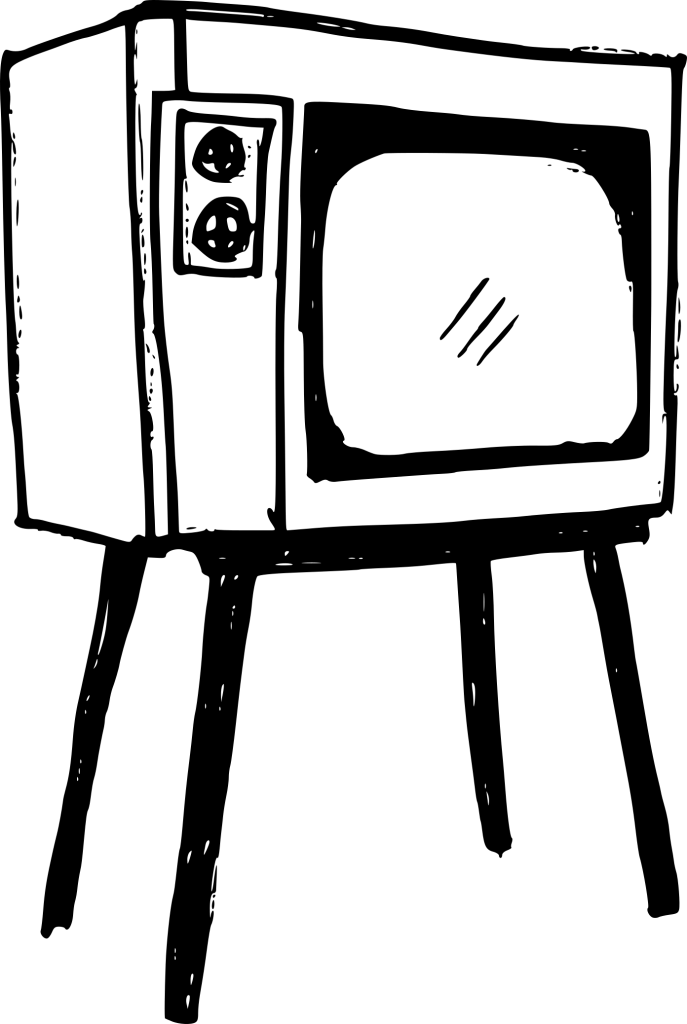 Vector television drawing. Old png transparent