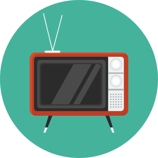 Television icon png. Retro tv flat iconset