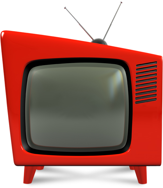 Vintage television png. Clipart tv collection free