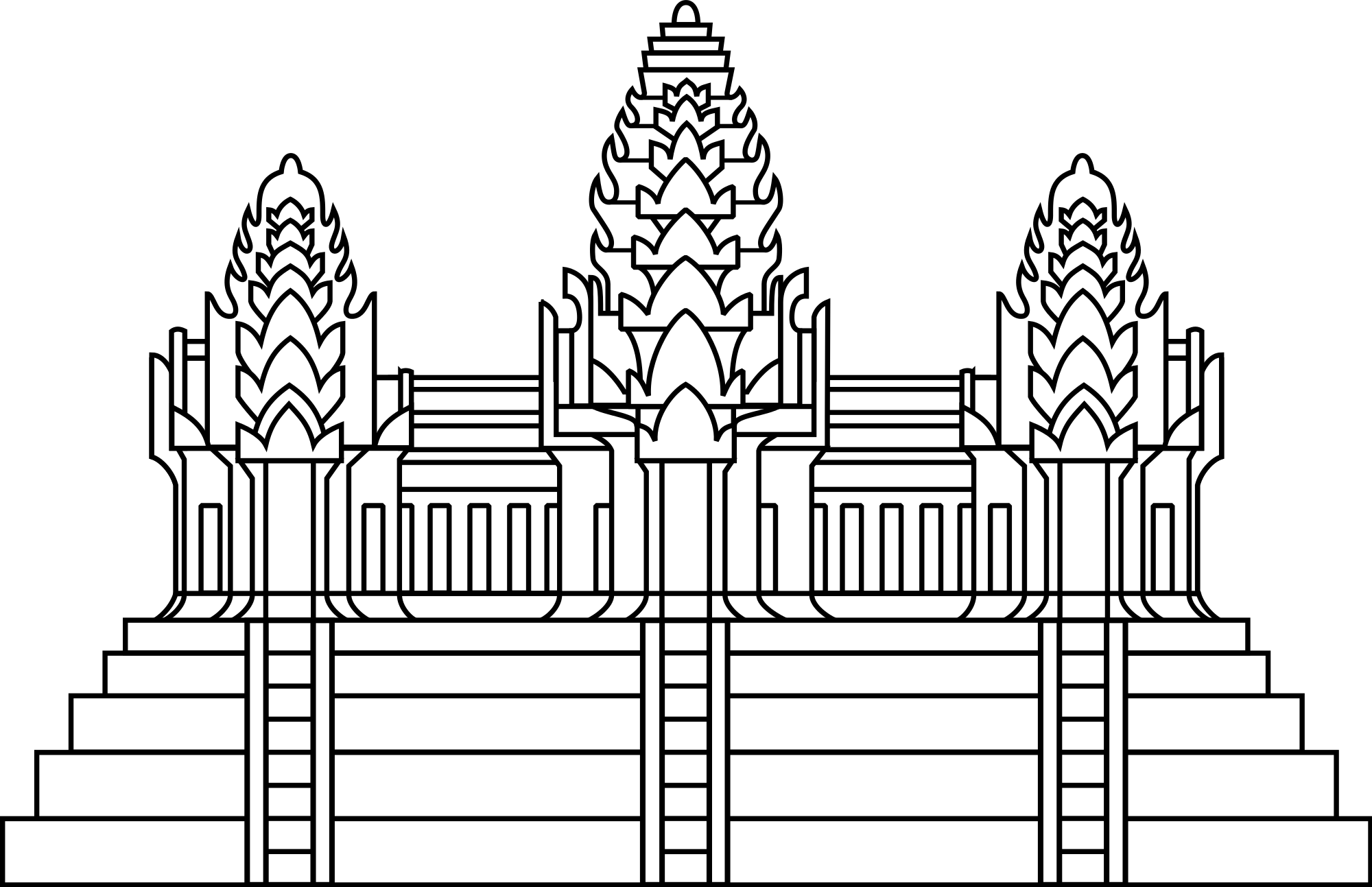 Temple clipart cambodian temple. File angkor wat in