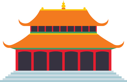 Roof chinese temple pencil. China clipart china pagoda png free stock