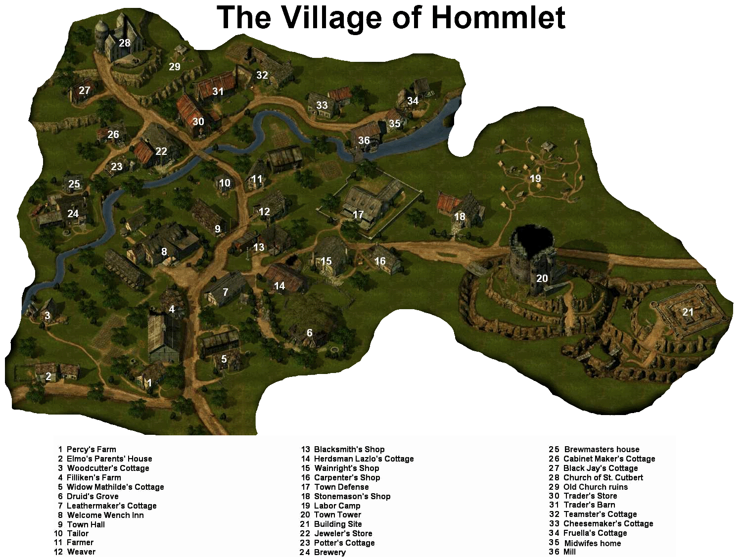 Temple of elemental evil png. Hommlet map locations circle