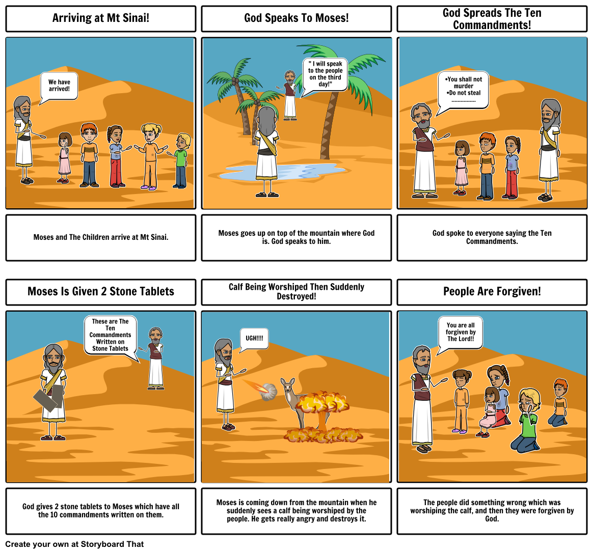 Ten commandments clipart exodus. Moses and the