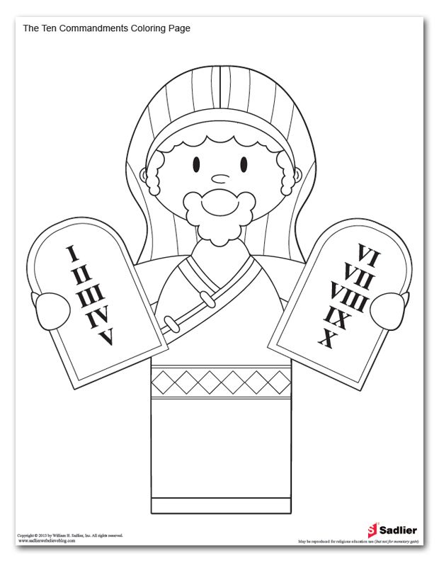 Ten commandments clipart kid coloring page. Colouring pages cindy nicolai
