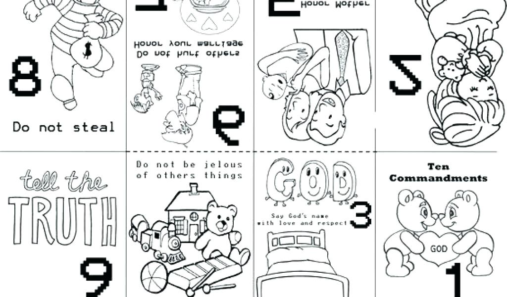 Ten commandments clipart kid coloring page. For kids pages free