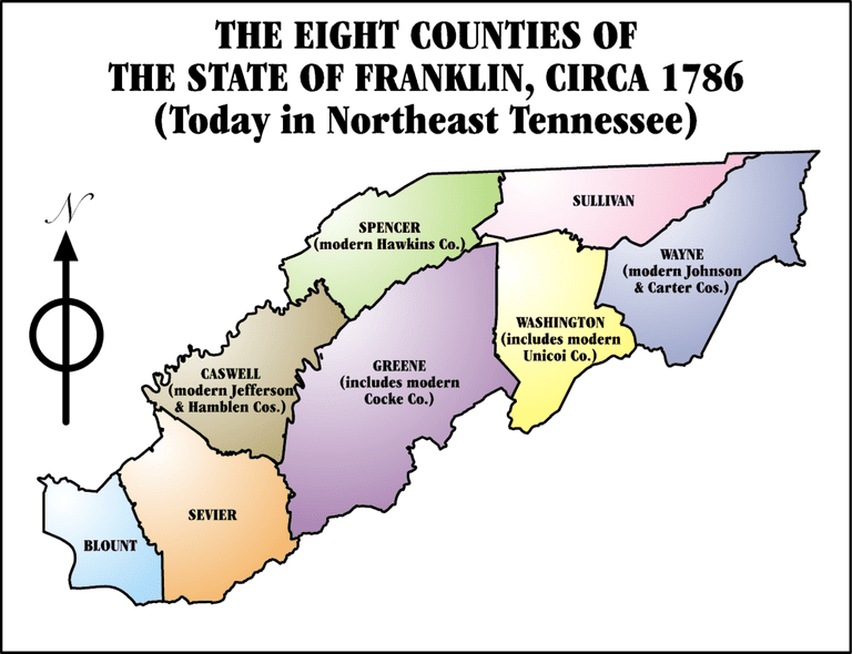 Tennessee drawing statehood. The failed state of