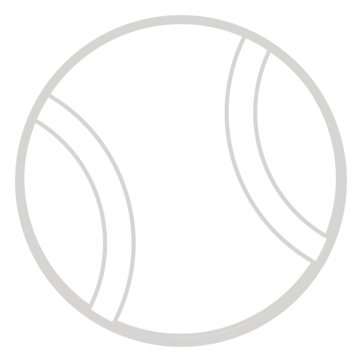 Tennis ball outline png. Icon transparent svg vector