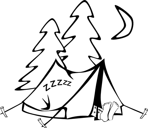 Tipi drawing cartoon. Free camping pictures download