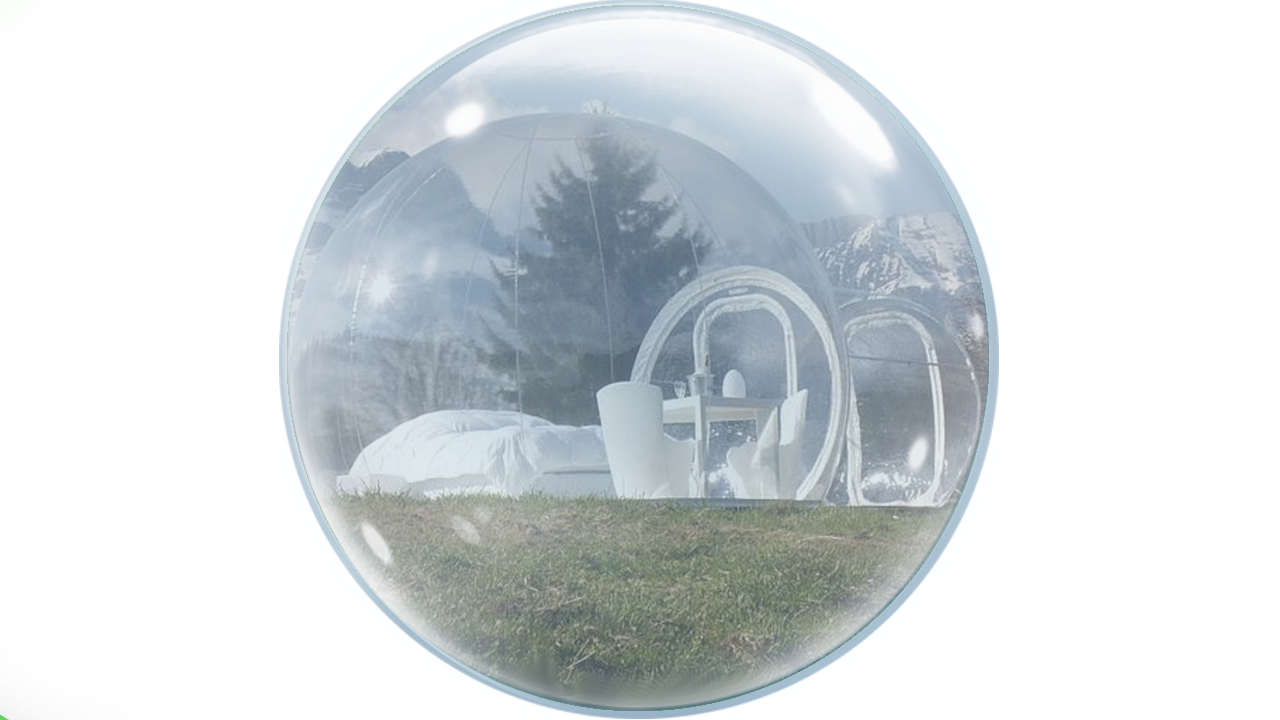 Tent transparent bubble. Inflatable m b