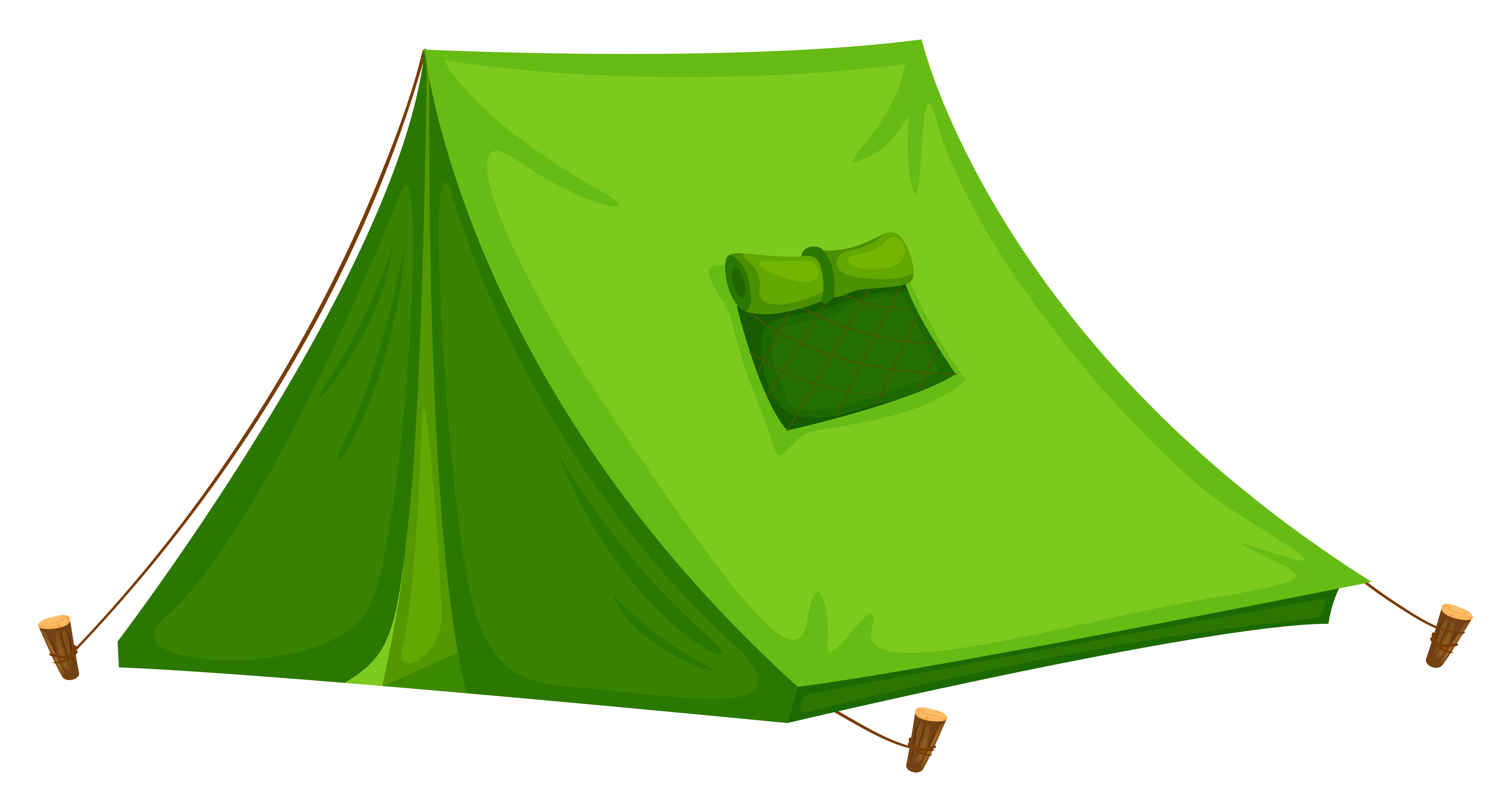 Tent transparent cartoon. Collection of clipart