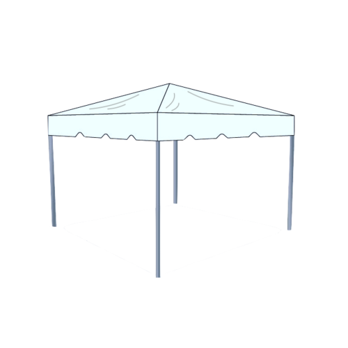 Tent transparent frame. X clear box