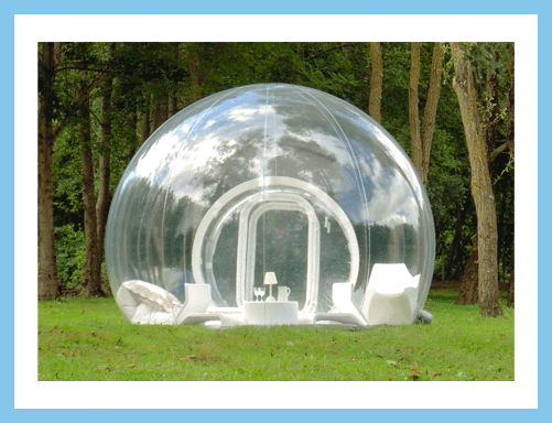 Tent transparent inflatable. Casabubble how cool is