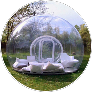 Tent transparent inflatable. Bubble pasito a app