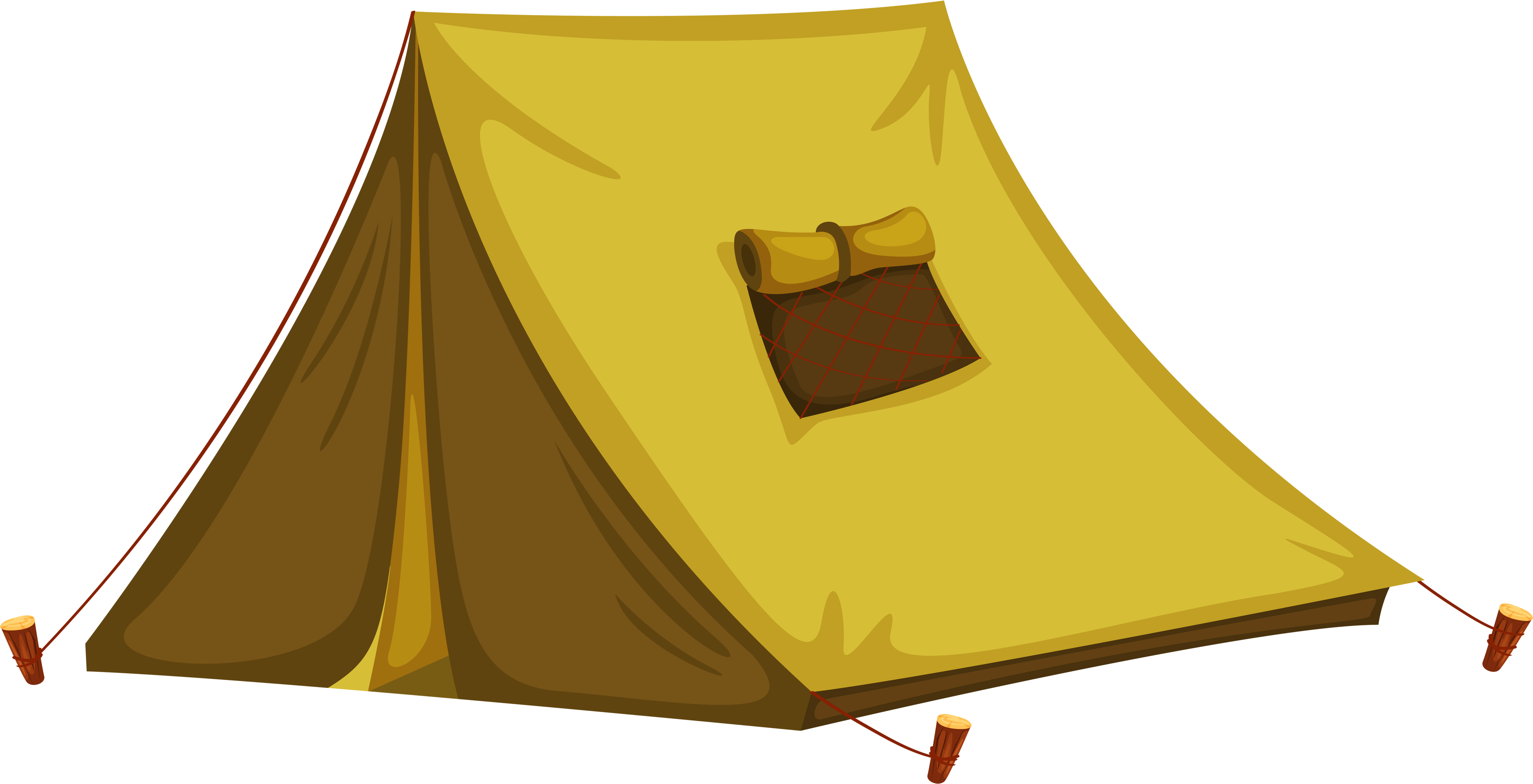 Tent transparent vector. Yellow png image purepng