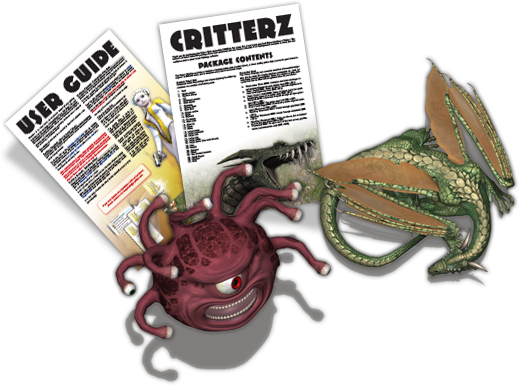 Tentacle png token. Critterz pack on behance