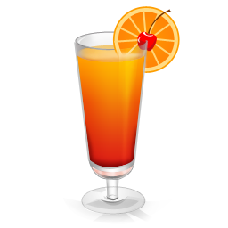 Tequila sunrise png. Cocktail icon drinks iconset
