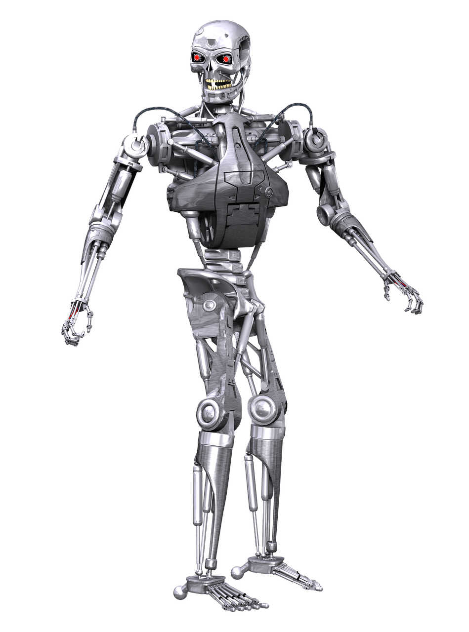 Terminator robot png. Transparent stickpng download bots