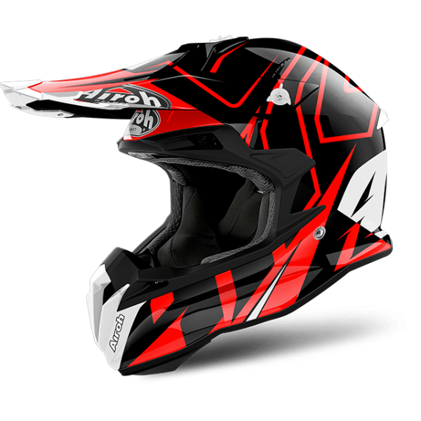 Terminator vision png. Airoh open shock red
